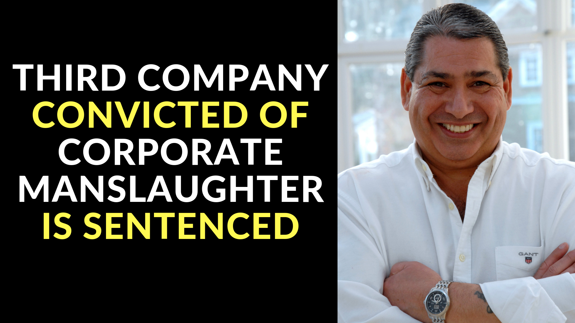 Third Company Convicted of Corporate Manslaughter is Sentenced