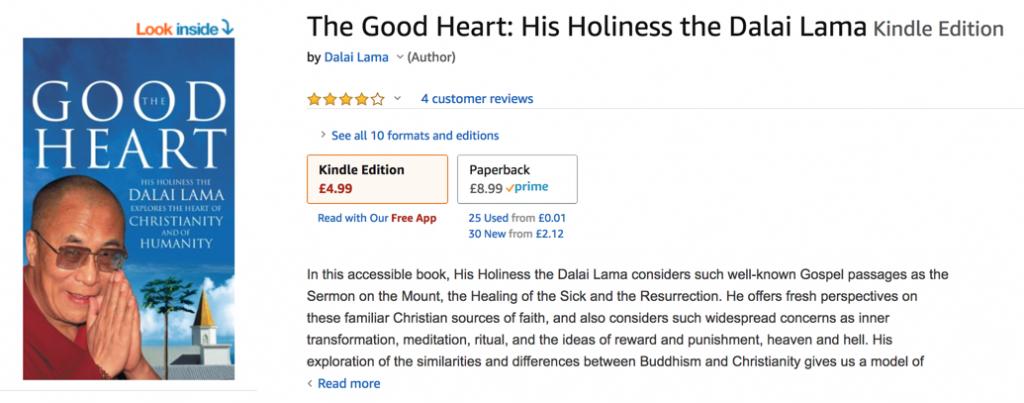Dalai Lama The Good Heart