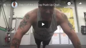Day 1 22 Push Up Challenge