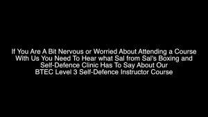 Salim Nazeer Self Defence Trainer Testimonial