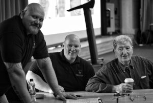 Alex Hunter, Rab Landells and John Steadman