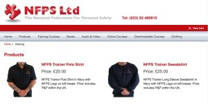 NFPS Clothing Items for Sale