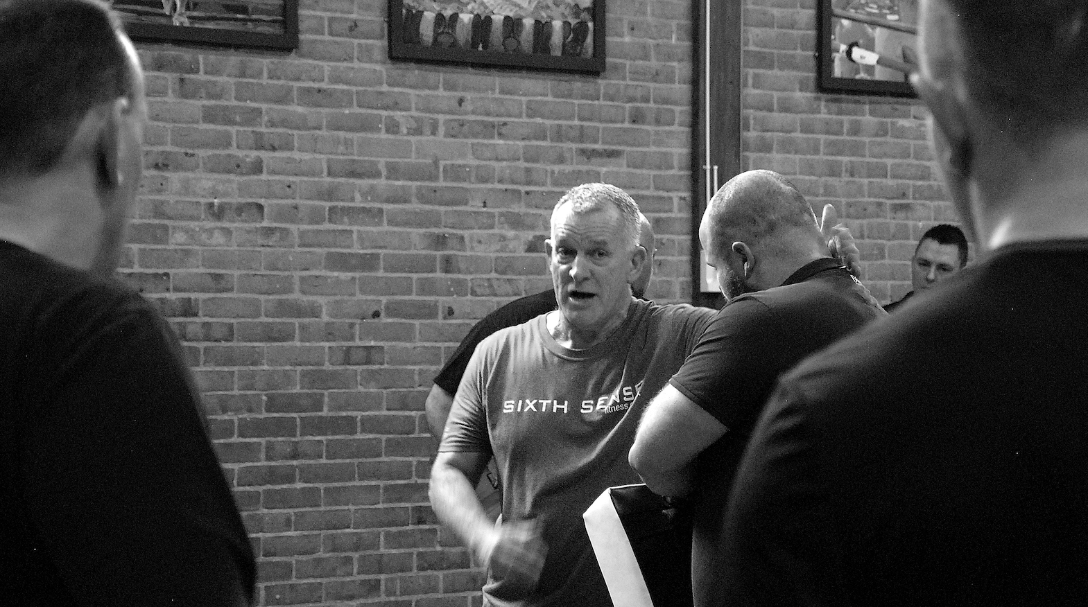 Ginge Teaching on our Self Defence Trainer Course