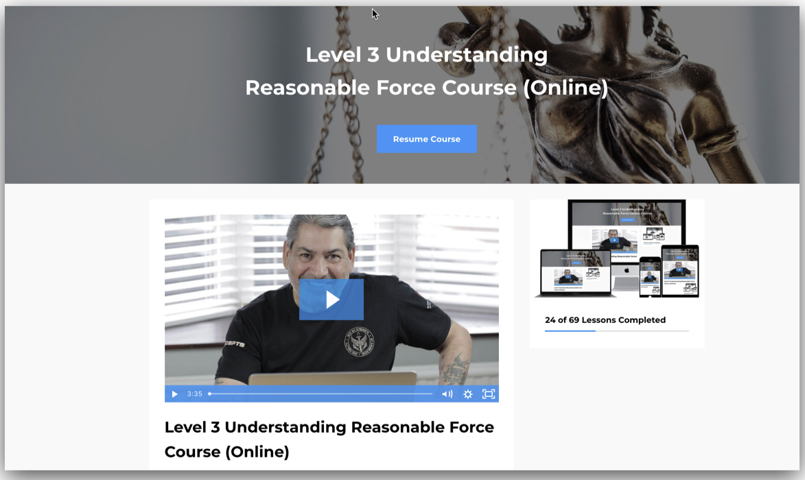 Reasonable Force Course