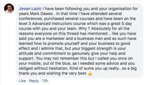Jovan Lazic Testimonial