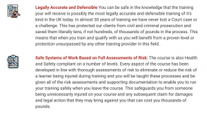 Physical Intervention Trainer Course Legally Accurate and Safe System of Work Bullet Points
