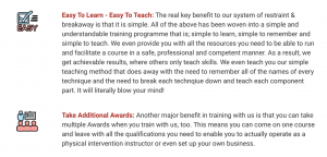 Physical Intervention Trainer Course Easy To LEarn and Take Additional Awards Bullet Points