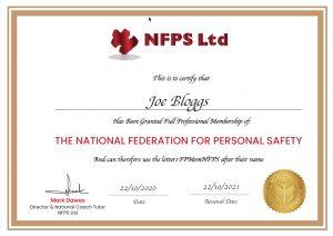 Example Membership Certificate