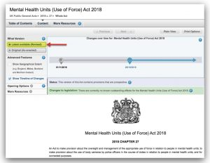 MHUUOF Act 2018