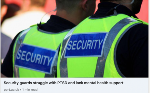 Security Guards Struggle with PTSD