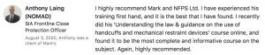 Anthony Laing Review & Testimonial