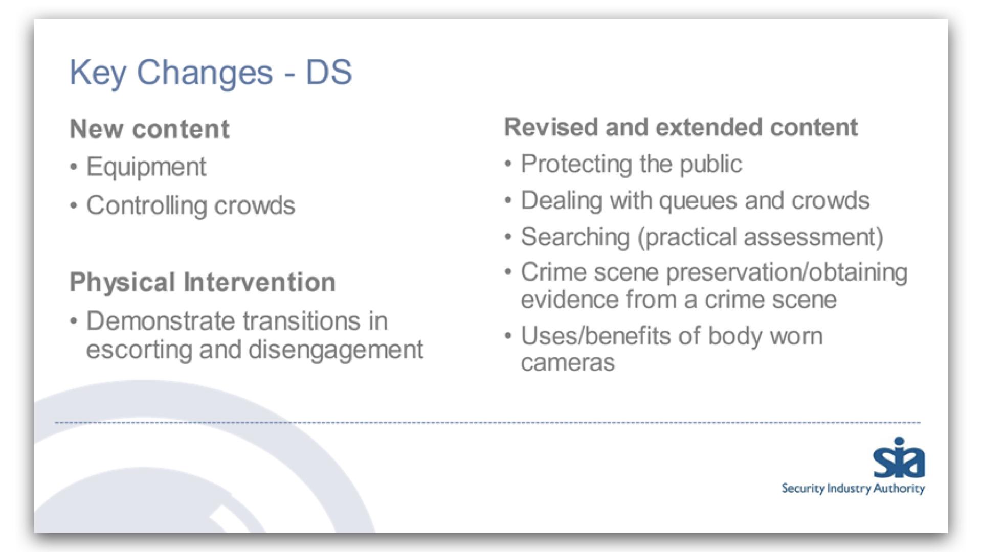 Key Changes For Door Supervisors