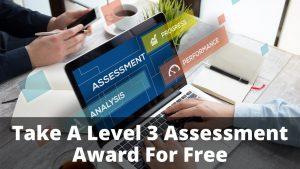Level 3 Assessment Award