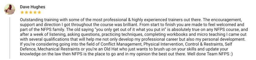 Dave Hughes Testimonial and review