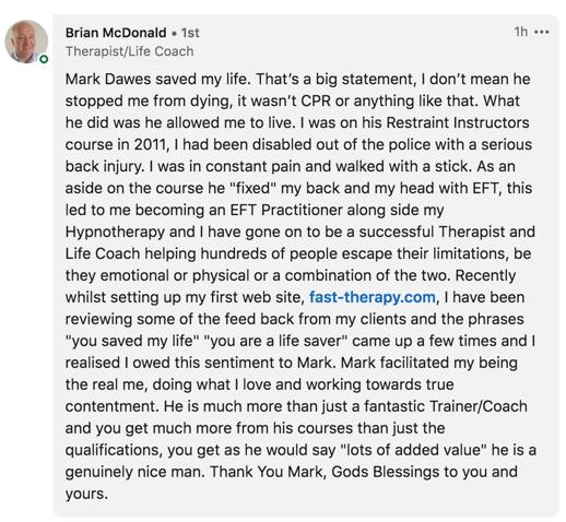 Brian McDonald Testimonial