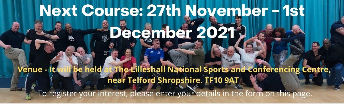 Physical intervention Trainer Training Dates Nov to Dec 2021